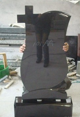 China Black Headstone for Russia Style