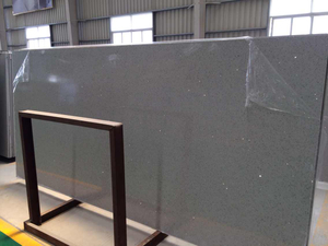 Popular Glass Crystal Grey Artificial Quartz Slab