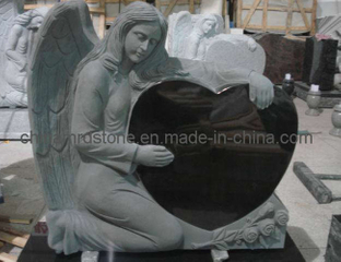 Customize Kneeling Angel Tombstone with American Style