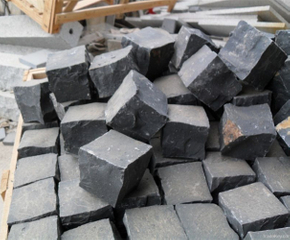 Natural Black Basalt Cubic Stone for Square and Plaza