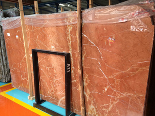 Marble Red Coral Slabs for Decoration