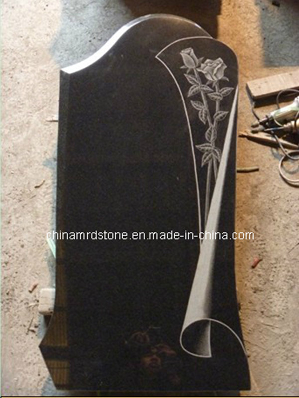 Black Granite Upright Monuments for European or American Style