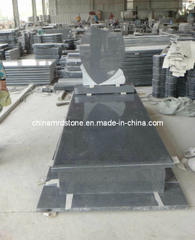 G654 Black Granite Tombstone for Cemetery