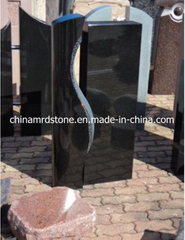 Shanxi Black Granite Upright Monument for Cemetery