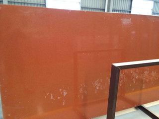 Popular Glass Crystal Red Artificial Quartz Slab