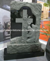 New Design Angel and Cross Shaped Granite Headstone for Cemetery