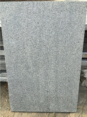 G654 Dark Grey Granite Flamed and brushed