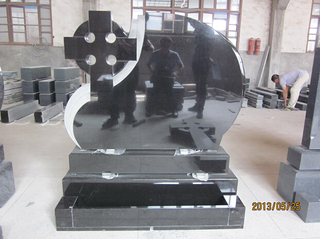 Shanxi Black Granite Celtic Cross Monument for Romania Market