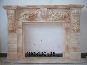 Customize Natural White Marble Fireplace for European Style